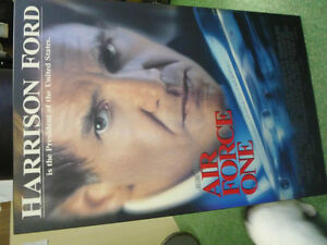 """Harrison Ford's """"Air Force One""""  movie poster ( airplane) Cambridge Kitchener Area image 1"""