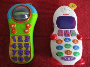 2  Téléphones  Un  Bright Stars  Et  Fisher  Price