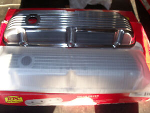 SB FORD ALUMINUM FINNED VALVE COVERS NEW IN BOX London Ontario image 1