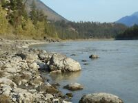 Placer gold claim on Fraser River by Lillooet