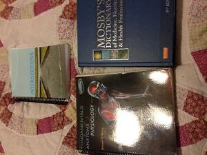 Nursing textbooks.