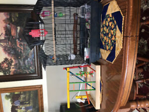 Bird cage black and play pen  for small birds