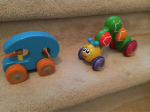 Quality wooden car and inchworm zoomer