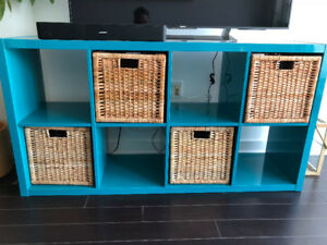 [RARE COLOR] Ikea shelving with storage boxes