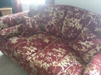 Luxurious sofas x 2 three seaters and arm chair