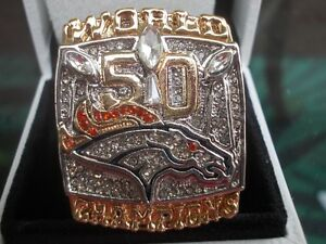 2015  Denver Bronco's super bowl replica ring