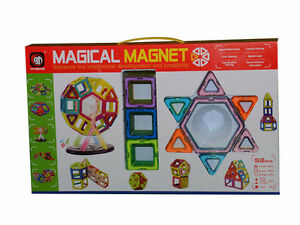 52 pcs Magical Magnet Toys Magnetic Construction Like Magformers