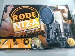 RODE NT2-A Studio microphone package.