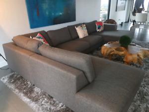 High end fabric sectional