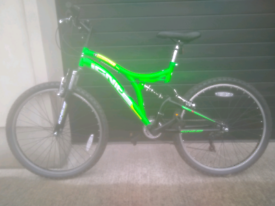 Dual Suspension 18 speed mountain bike