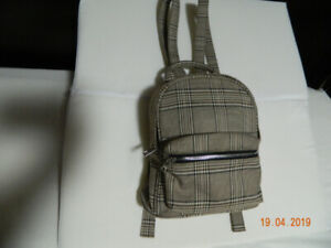 Plaid gingham tan mini bag from forever 21.