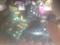 (2) Pairs of children's Roller Blades (available separately)