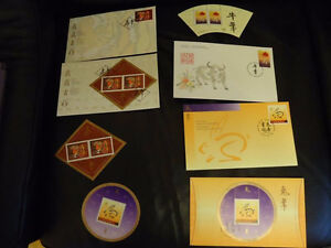 Collection of Chinese New Year Stamps and 1st Day Covers