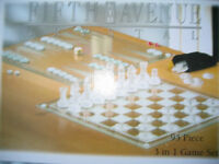 Chess Set/Backgammon/Checkers - Brand New 3 in 1 Game Set
