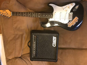 Austin Electric Guitar with Crate GX-15R amp *Updated*