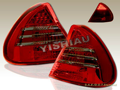 1999-2002 MITSUBISHI MIRAGE 2/4DR TAIL LIGHTS LED RED/ CLEAR 99 00 01 02 00 4dr Tail Lights