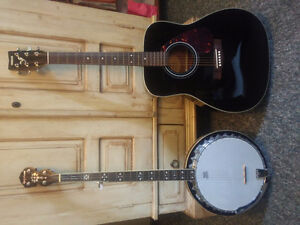 Banjo and guitar for sale
