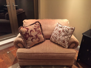 """Chair and a Half"" + Matching Ottoman - Great Condition"