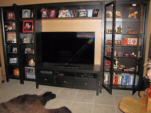 Wall Unit - Cabinets with TV Table - Black