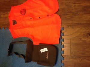 Hunting vest & cabela's trap shooting pouch