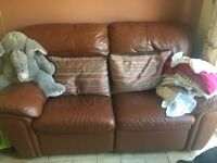 Top grade leather two seater recliner sofa