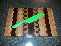 end grain cutting board / planche de coupe