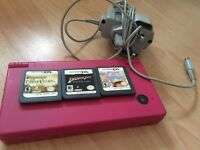 Pink Nintendo DSI w/ three games