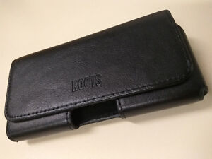 Roots leather holster for use with slim case