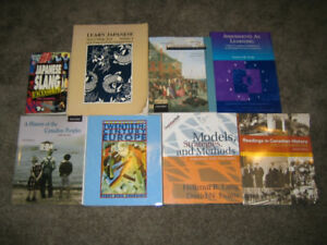 History and Teachers College Textbooks + 2 Japanese Lang