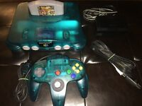GREAT CONDITION ICE N64 WITH MATCHING CONTROLLER + SMASH BROS!!!