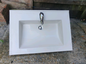 White sink with taps