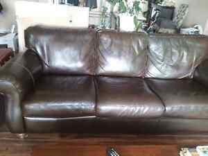 Genuine leather couche