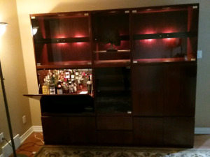 Rosewood Virginia Wall System Entertainment Unit