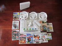 Wii avec accessoires et jeux