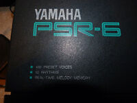 yamaha PSR-6 keyboard and carrying bag.