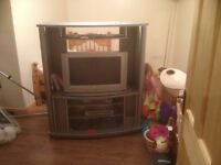TV and stand for sale