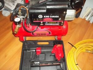 King 1.5 HP Compressor and Stapler