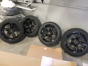 BMW 5X120 SET OF 4 ON WINTER TIRES