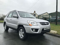 09 KIA SPORTAGE 2.0 XE CRDI 4X4 AWD 64000 MILES FSH FULL MOT MUST BE VIEWED