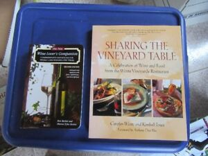 WINE AND FOOD LOVER'S BOOKS (2 FOR $3.00)