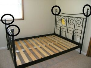 Beautiful Ikea Black Queen Bed Frame - Free Deliveey