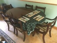 Dining Table and Chairs - extends from 6 seater to 8 seater