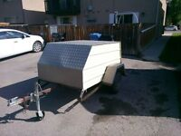 small covered trailer