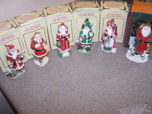 6 THE INTERNATIONAL SANTA CLAUS COLLECTION FIGURINES