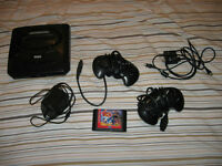 Sega Genesis with 2 Controllers,all hook ups and RARE Sonic Game