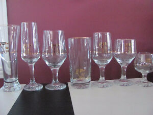 Set of 42=1988 Olympic glasses w/22k Yellow Gold