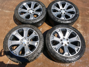 """22"""" rims and tires for sale or trade for aftermarket rims"""