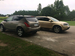 I'm selling 2 nissan murano all wheel drive