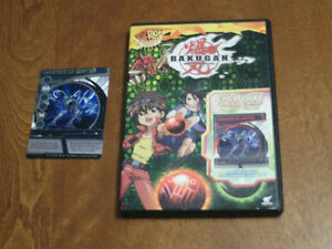 Bakugan DVD with RARE Legends of Water Ability card