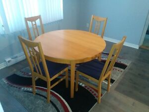 Ikea table with 8 chairs
